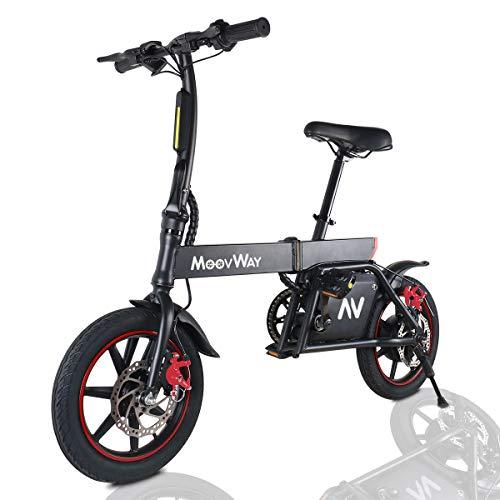 Windgoo Vélo Électrique Pliant, 14' Vélo Adulte Pliant Moteur 350W, Vitesse jusqu'à 25 km/h, 15km la Longue Portée, 36V 6.0Ah Batterie, City E-Bike avec Pédale et Chaîne