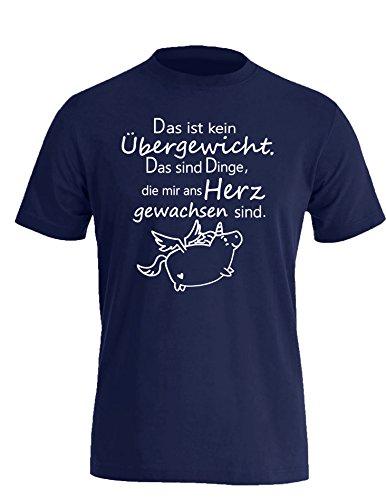 Das ist kein Übergewicht das sind Dinge die mir ans Herz gewachsen sind - Herren Rundhals T-Shirt Navy/Weiss