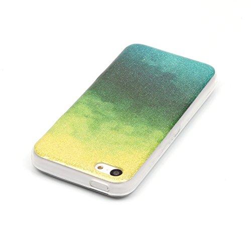 iPhone Case Cover cas iphone 5C, coloré modèle TPU étui souple cas de couverture de peau de silicone de caoutchouc pour iphone 5C ( Color : E , Size : Iphone 5C ) N