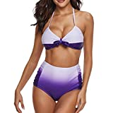 Darringls Costumi da Bagno, Bikini Donna Bikini a Triangolo Costumi Mare Interi Taglie Forti Costumi Donna Mare Due Pezzi Brasiliana Push Up Tankini Sets Bikini Mare Spiaggia Estate