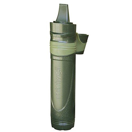 Trinkwasserfilter für Outdoor – Notfall Wasserfilter entfernt 99.9% Bakterien & 0.05 Mikron Filter - Chemiefrei | Survival Camping Zubehör Ausrüstung zum Überleben | Trinkwasseraufbereitung - Militärische Ausrüstung | Bayram