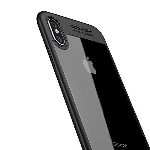 931c610baa6 LAYJOY Funda iPhone X, Funda iPhone XS, Carcasa Ligera Bumper Silicona  Suave Negro TPU
