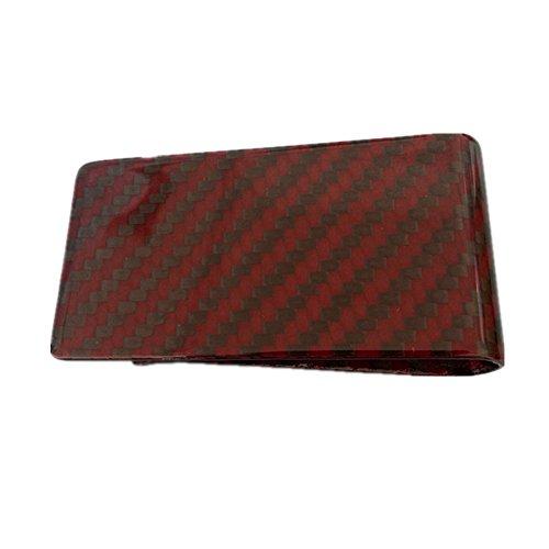Gudeke Rote Kohlefaser Carbongewebe Brieftaschen Geldscheinklammer