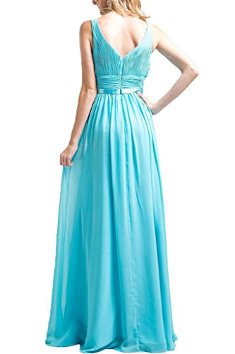 Promgirl House Damen Perfekt Elegant Chiffon A-Linie Traeger Abendkleider Cocktail Ballkleider Lang Royalblau