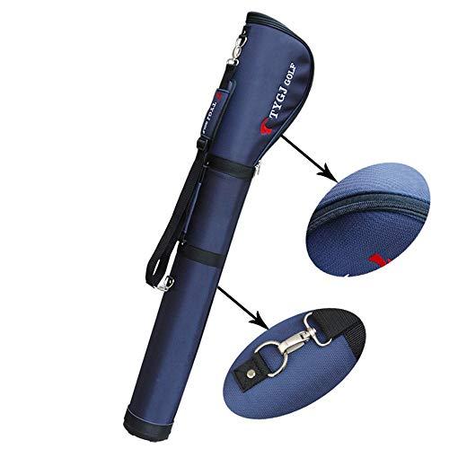 YAOSHIBIAN- Männer Golf Stand Bag Wasserdichtes Nylongewebe Golf Gun Bag Leichte Golf Cart Bag mit bequemem Schultergurt und Griff Golfausrüstung (Farbe : Blau, Größe : 125 * 10cm)