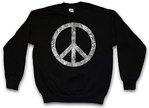 PEACE SYMBOL SWEATSHIRT PULLOVER PULL SWEATER – arc en ciel Sign icône Logo Hippie 60s Cultur Goa Gay Free Love 60s Hippie Summer Of Love Symbol Größen S – 5XL