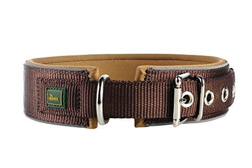 Hunter Hundehalsband Neopren Reflect, Größe 45, braun/karamell