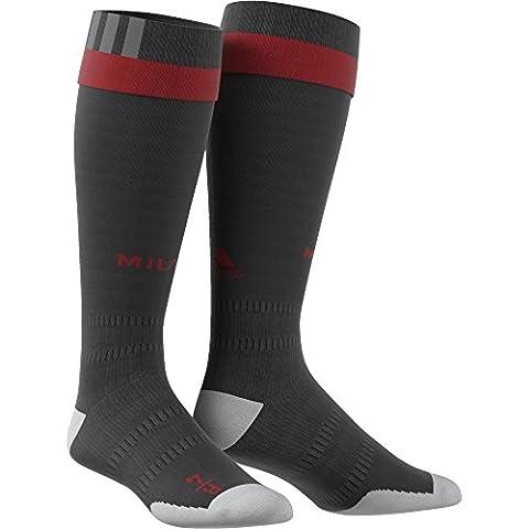 adidas ACM H SO Socks of the - 1st Football kit of AC Milan 2015/16 for Men, 5, Black / Red