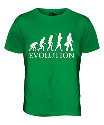 CandyMix Unternehmen Geschäftsmann Evolution Des Menschen Herren T Shirt  Grün