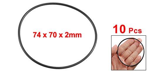 10x 74mm od 70mm diametro interno gomma nitrilica O-ring olio guarnizioni