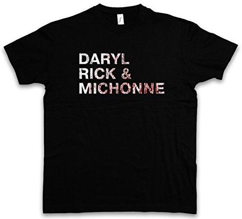 Urban Backwoods Daryl Rick & michone T-Shirt - Taglie S - 5XL Nero