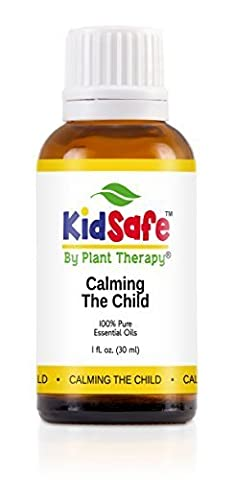 KidSafe Calming the Child Synergy Essential Oil Blend. 30 ml. 100% Pure, Undiluted, Therapeutic Grade. (Blend of: Chamomile Roman, Lavender, Mandarin and Tangerine) by Plant Therapy Essential