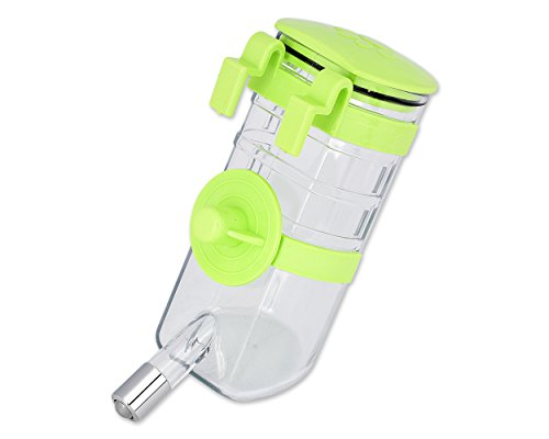 DSstyles 375ml Dispenser per bottiglia d'acqua pensile per animali Articoli per animali domestici per cane Cucciolo di coniglio gatto - Verde