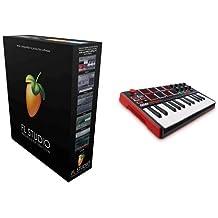 Image Line FL Studio 12 Producer Edition + Akai Professional MPK Mini MKII Kompakter USB MIDI Keyboard & Pad Controller mit 25 tasten und anschlagdynamischen Pads, MPC Essentials (SONiVOX Wobble und Hybrid 3) Bundle