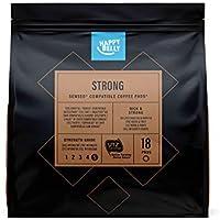 Amazon-Marke: Happy Belly Kaffee-Pads Strong kompatibel mit Senseo* - UTZ zertifiziert 90 Pads (5x18 )