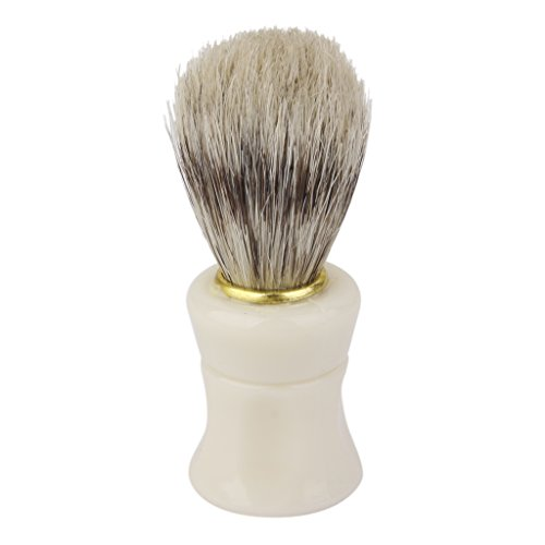 Imported Pro Barber Salon Hair Shave Shaving Brush Plastic Handle Bristle Tool
