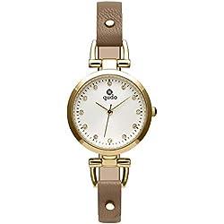 Qudo Ladies 'Watch Brown/Gold/White 800301