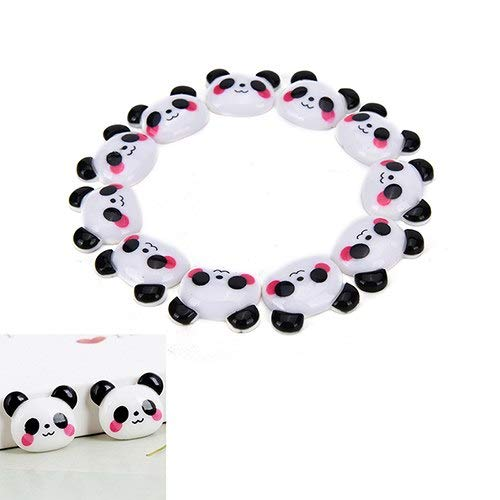 Miniature Figurines - 10pcs Diy Cartoon Resin Panda Flatback Cabochon Scrapbook Embellishment Phone Decoration Crafts - Paint Garden Snow Fantasy Plastic Dogs Unpainted People Miniature Decor