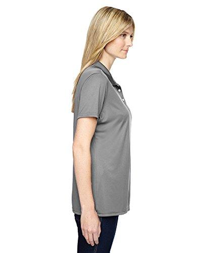 Hanes - T-shirt de sport - Manches Courtes - Femme noir - Gris