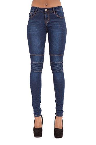 Jeans da donna attillati blu jeans aderenti da donna jeans attillati slim fit a vita bassa elasticizzati