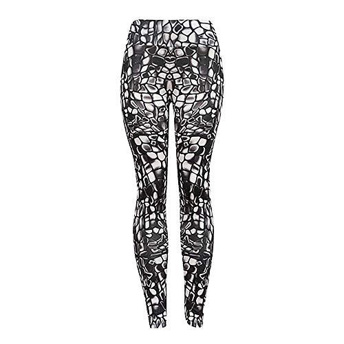 Ode_Joy Pantaloni Yoga-Yoga Femminile a Vita Alta Leggings di Fitness in Esecuzione Pantaloni Sportivi Elasticizzati Pantaloni- Usura Fitness per Le Donne Skinny, Allenamento Sport (Nero,M)