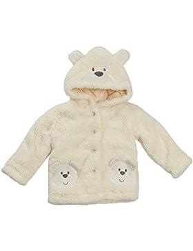 Baby Kuscheln Vlies Teddybär Kapuzenmantel mit OHREN CREME Größen von Neugeborene bis 24 Monate