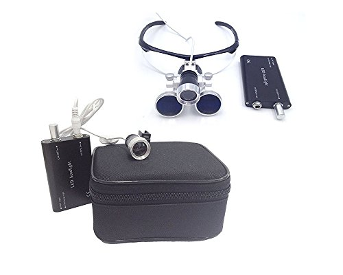 Surgical Medical Binocular Eye Loupe Glass 3.5x Amplification With Led Headlight Magnifier by EDDE...