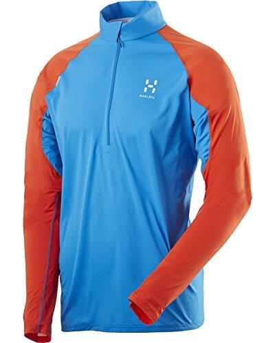 hundeinfo24.de Haglöfs Herren langarm T-Shirt L.I.M Long Sleeve Zip Tee Men S15, Gale Blue/Dynamite, L, 6025192K9025