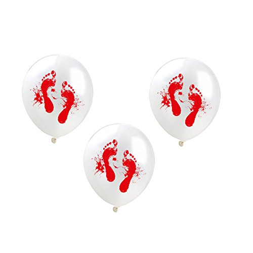Amosfun 100pcs 12Zoll Halloween Rund um Form Kugelschreiber Ballons Spooky Bloody Scary Ballons Party Decorations Supplies for Vampire Theme Party Kostüme Party (Spooky Vampir Kostüm)