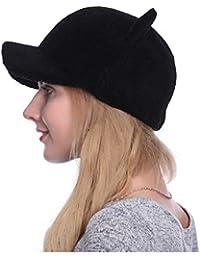 534c1b0d01352 LIXUE Sombrero Orejas de Gato Femenino Sombrero Caliente Orejeras para  Mujer Sombrero (Color  Negro