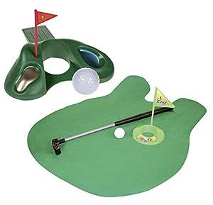 Close Up z888930Golf Set Tope para Puerta & Baños de Juego de Golf, Color marrón