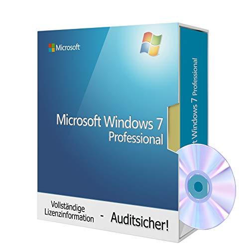 Windows 7 Professional 64bit, Tralion-DVD, inkl. Lizenzdokumente, Audit-Sicher