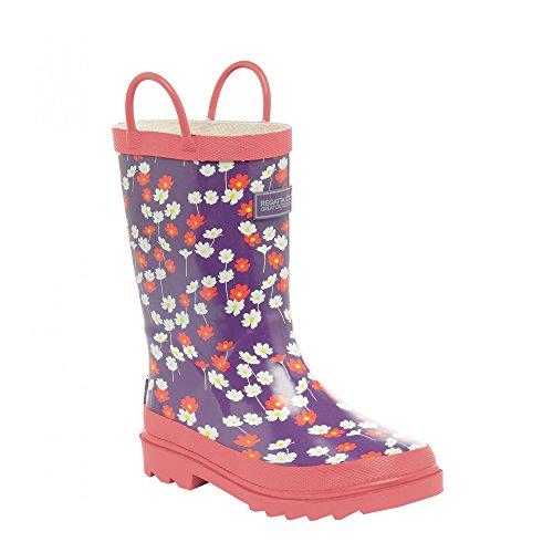 Regatta Minnow Jnr Welly, Chaussures de Randonnée Hautes Mixte Enfant Rose (Duch/satsuma)
