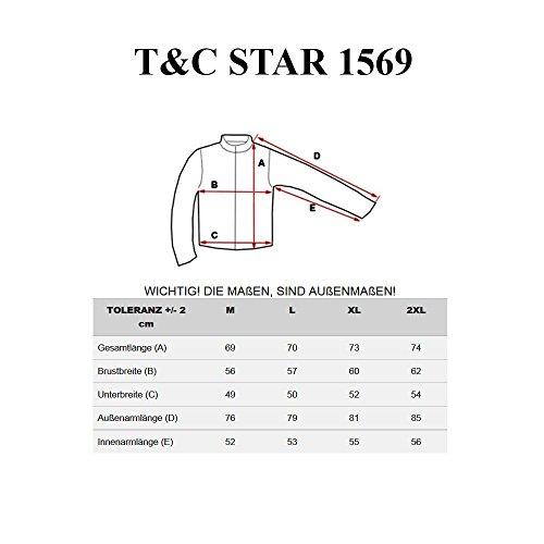BOLF - Felpa con cappuccio - con cerniera – T&C STAR 1569 - Uomo Nero