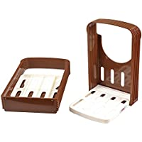 Queta - Cortador de pan de tostadas, cocina práctica cortador de pan, cortador de tostadas, guía de corte, plegable, herramienta de cocina para hornear