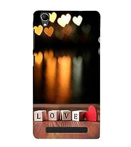 FUSON Love Cubes With Heart 3D Hard Polycarbonate Designer Back Case Cover for Intex Aqua Power Plus :: Intex Aqua Power +