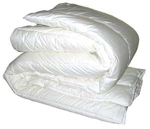 Comptoir du Linge CS265220 Couette Tempérée Haut de Gamme Ultra Gonflante Polyester Quallofil Blanc 240 x 220 cm