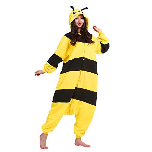 PALMFOX Jumpsuit Tier Cartoon Fasching Kostüm Sleepsuit Cosplay Fleece-Overall Pyjama Schlafanzug Erwachsene Unisex Kigurumi Tier (1020 Kostüme)