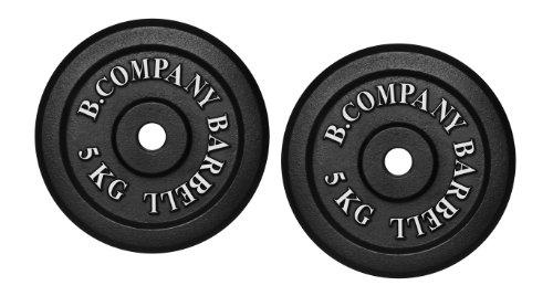 Guss 10,0Kg (2x5,0) Hantelscheiben Hantel Gewichte Scheiben Hanteln 30/31mm