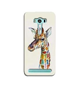 Fuson the colourful girraffe theme Designer Back Case Cover forAsus Zenfone 2 Laser ZE550KL (5.5 Inches)-3DQ-1250