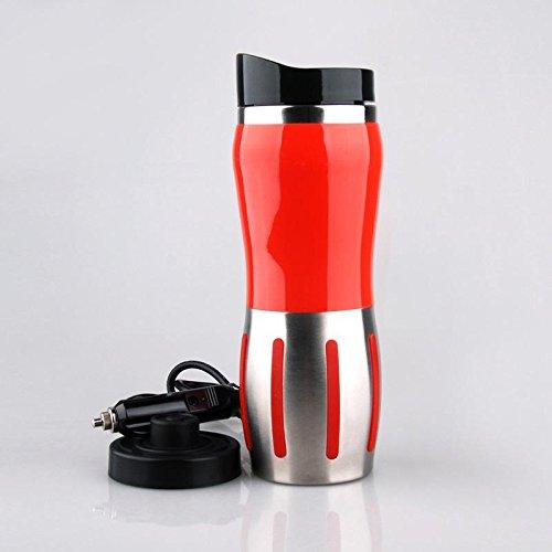 Auto elektrische Tasse Auto Cup Doppeledelstahlreisebecher heiße Tasse kochendem Wasser , red