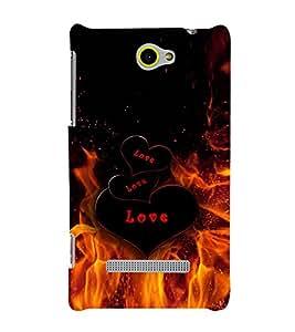 PRINTVISA Love Fire Case Cover for HTC WINDOWS 8S