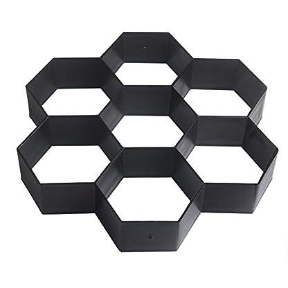 Com4sport Molde reutilizable con forma hexagonal, ideal para darle forma a los caminos de hormigón, 29x29cm