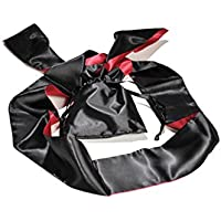 High Quality Blindfold with Bag - Opaque Eye Mask in Black / Red – Suitable for Men and Women - 150 cm long