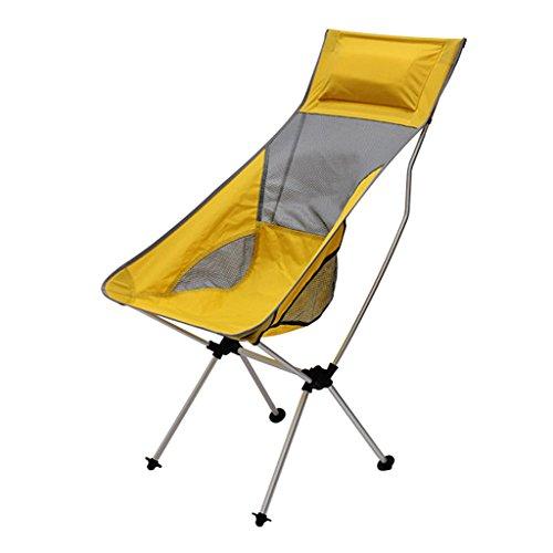 perfk Freien Faltbarer Camping Stuhl Outdoor Gartenstuhl, Klappstuhl - Gelb