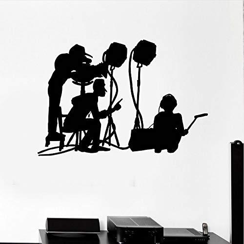 Cczxfcc Neue Design Wandtattoo Film Machen Crew Wandbild Film Kino Vinyl Kunst Dekoration Film Maker Silhouette Wandkunst Aufkleber 61X42 Cm