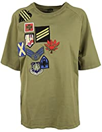 Mr&Mrs Italy Femme TS43EXINTJEC3040 Vert Coton T-Shirt
