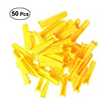 OUNONA 50pcs Plastic Fliese Spacer Keile Nivellierung ausrichten Wand Bodenfliesen Zubehör (Gelb)