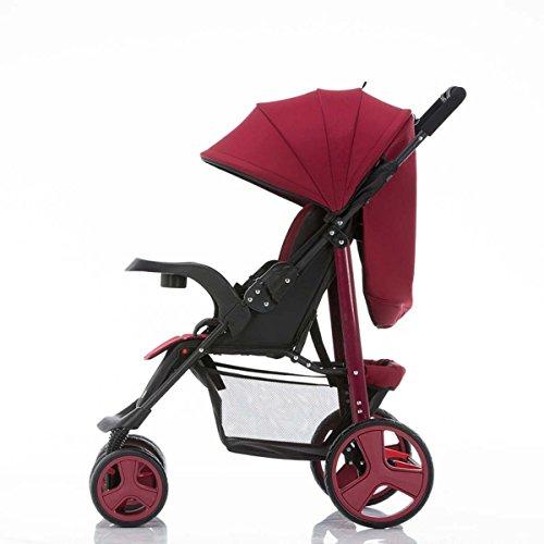 GONGFF Babytrolley Kann Sitzen/Liegen/Leichte Faltung/Tragbarer Mini Einfacher - Deckt Liege