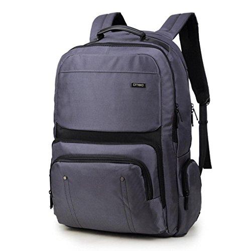 Fen Wasserdicht Groß Kapazität Oxford tragen Wandern Rucksack 43,9cm Multifunktions-Computer Tasche (schwarz, grau) grau grau